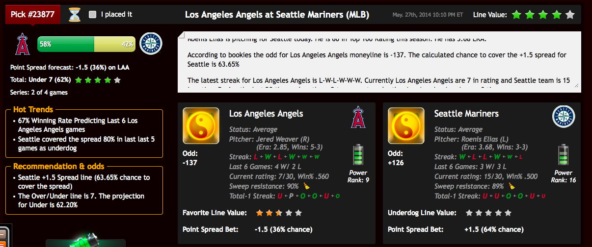 LA Angels visitan a Seattle Mariners