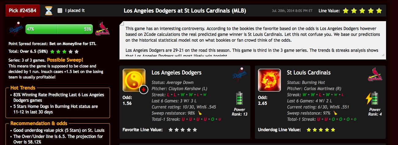 Predicciones de béisbol MLB