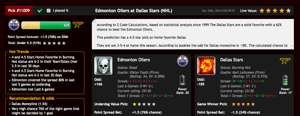 Predicciones NHL