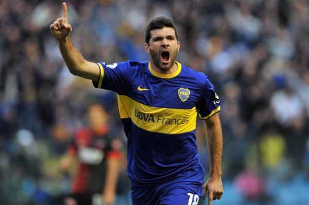 Gigliotti, delantero de Boca Juniors.