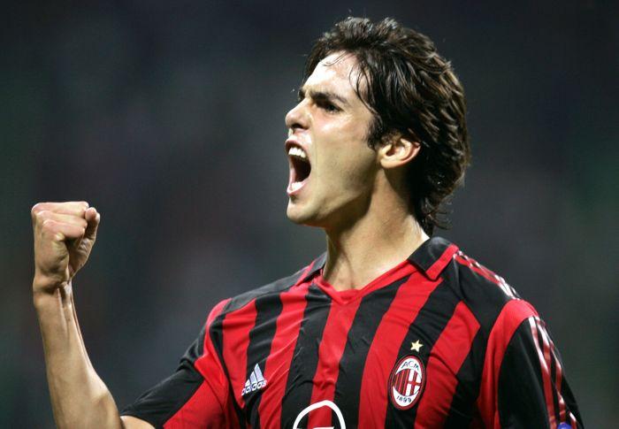 Kaká, mediocampista del Milan.