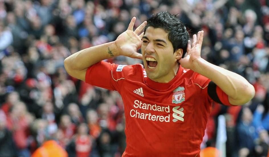 El uruguayo Luis Suárez, goleador del Liverpool y de la Premier League.