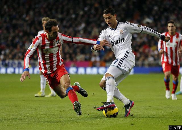 Juanfran y Cristiano Ronaldo