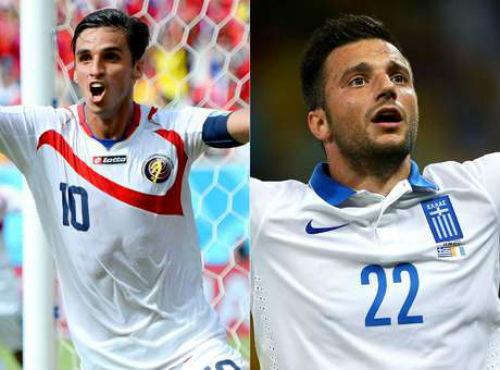 Costa Rica es favorita contra Grecia.