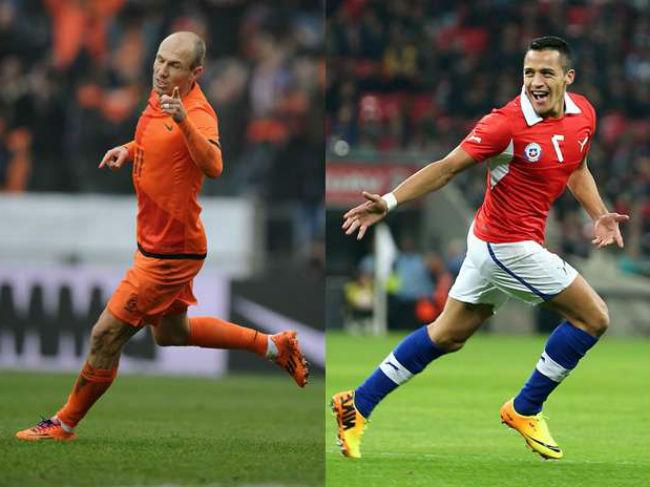 Robben estará sin Van Persie.