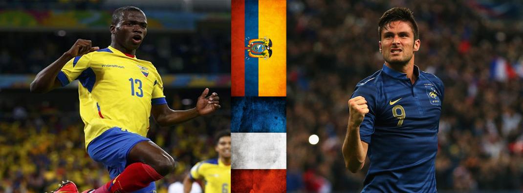 Enner Valencia deberá mostrar su olfato goleador ante Francia y Olivier Giroud