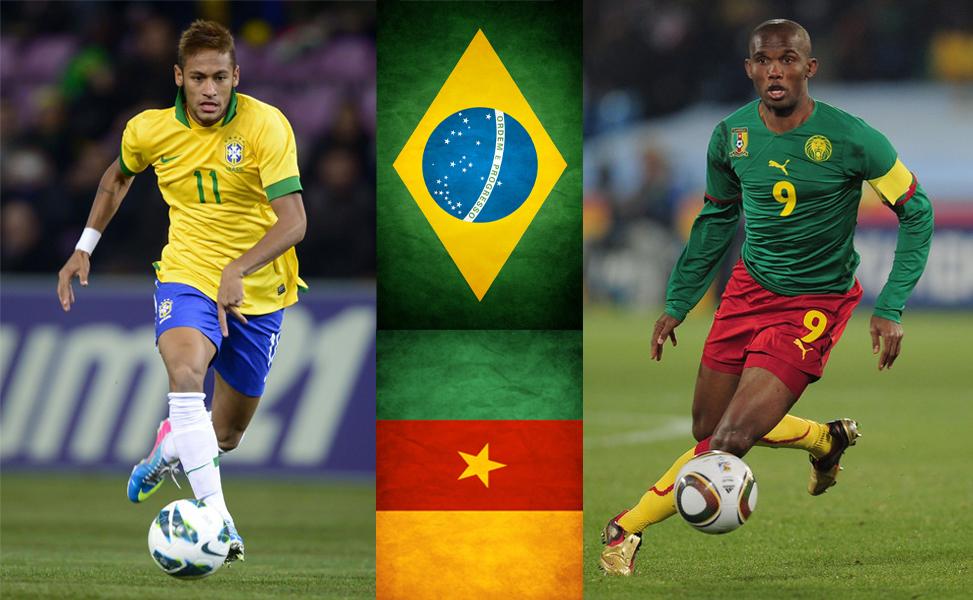 Busca Neymar el primer lugar para su equipo ante el Camerún de Eto'o