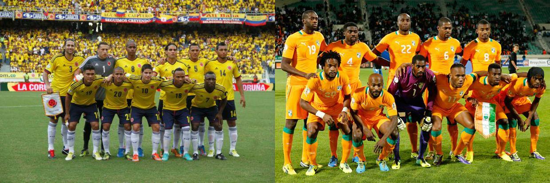 Colombia es favorita ante los marfileños.