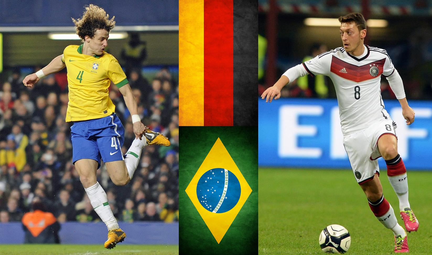 Los equipos de David Luiz y Mesut Ozil compiten en la primera semifinal del torneo