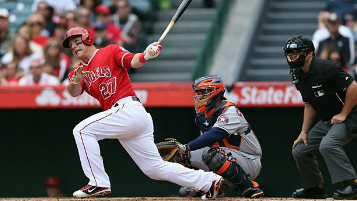 Mike Trout ve los playoffs muy cerca.