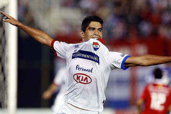 Brian Montenegro, delantero de Nacional de Paraguay.
