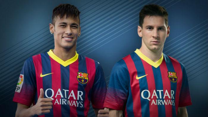 Neymar y Messi un binomio perfecto.