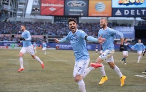 El Guaje Villa festejando su gol ante el New England Revolution. Quiere volver a marcar este sábado.
