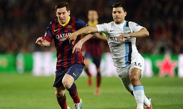 Messi y Agüero se juegan el pase a Cuartos de Final de la Champions League.