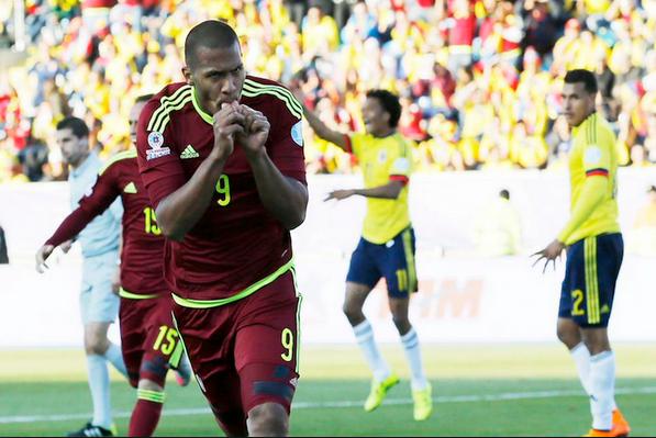 Salomón Rondón es la figura venezolana en esta Copa América.