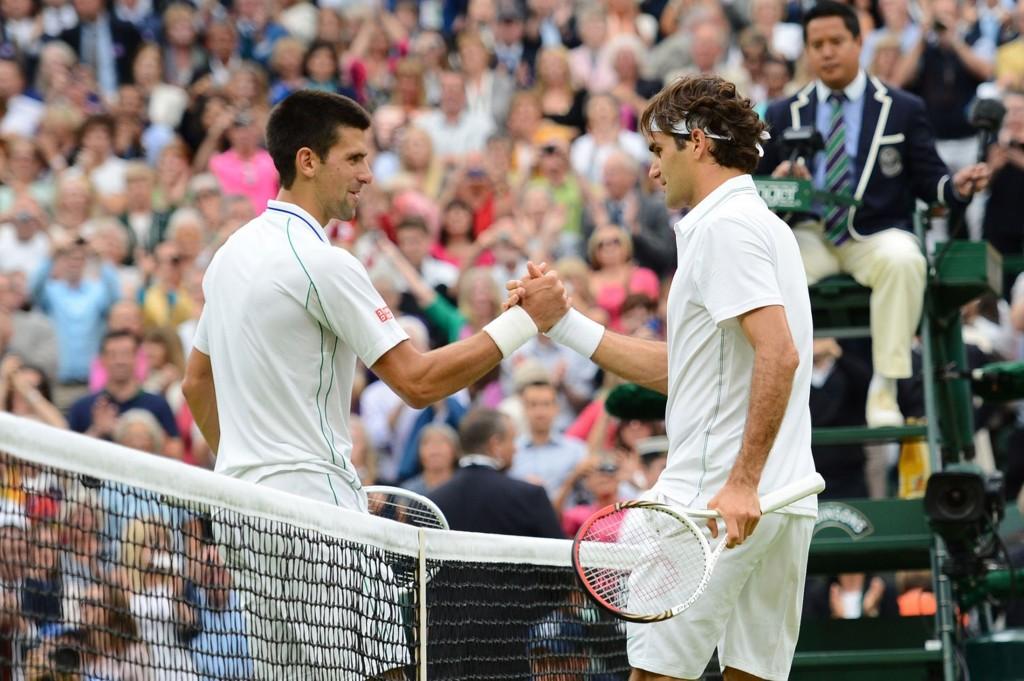 Federer y Djokovic (Wimbledon)