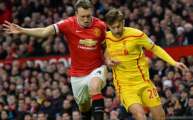 Phil Jones (United) y Jon Flanagan (Liverpool)