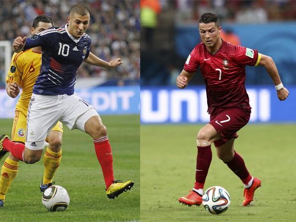 Cristiano Ronaldo (Portugal) y Karim Benzema (Francia)