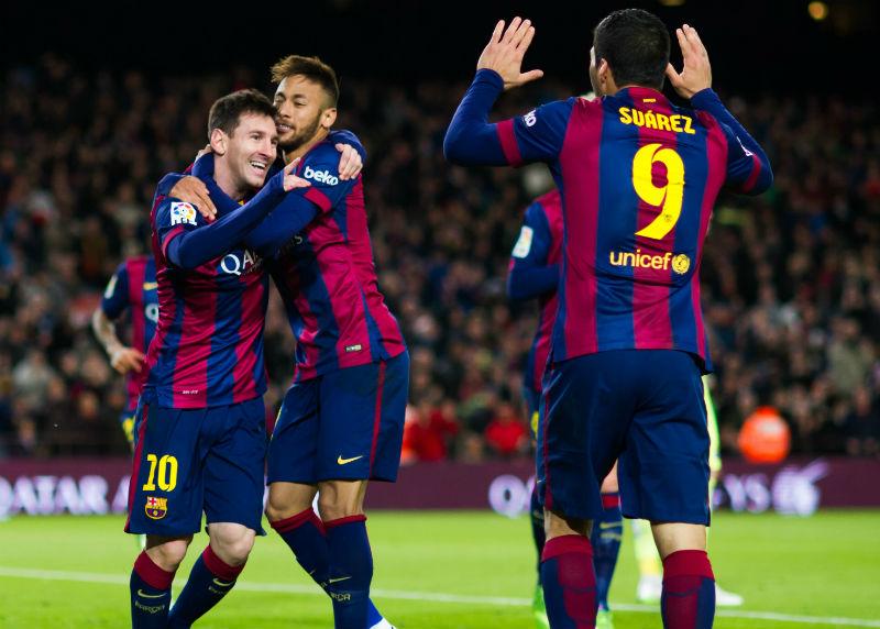 El tridente Messi-Neymar-Suárez vuelve a estar completo.