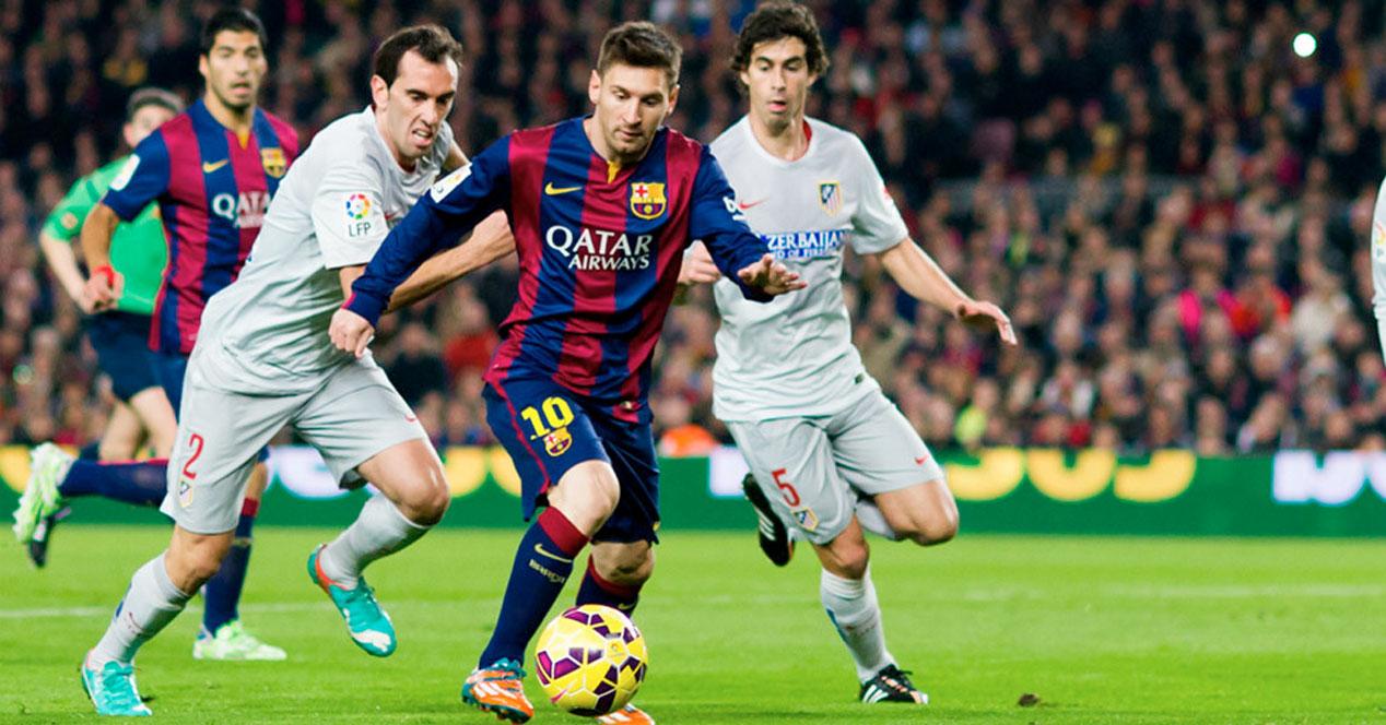 Messi lidera al Barça ante el fuerte bloque rojiblanco.