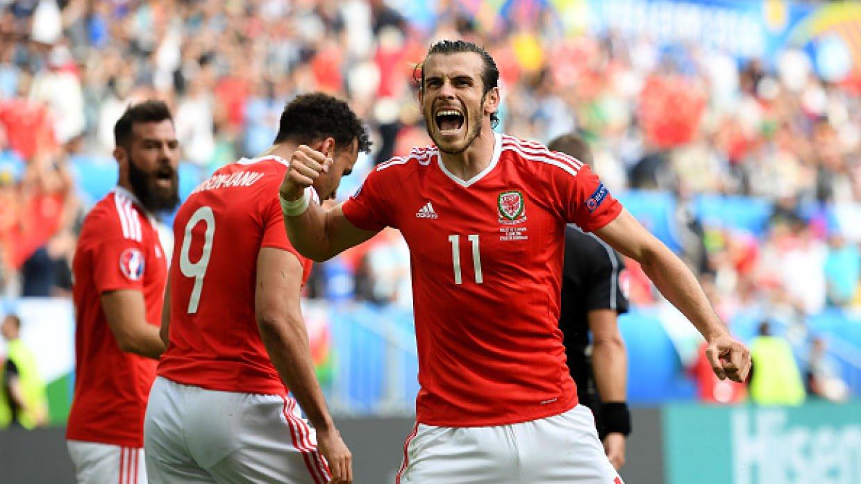 Bale marcó ante Eslovaquia el primer gol de Gales en una Eurocopa.