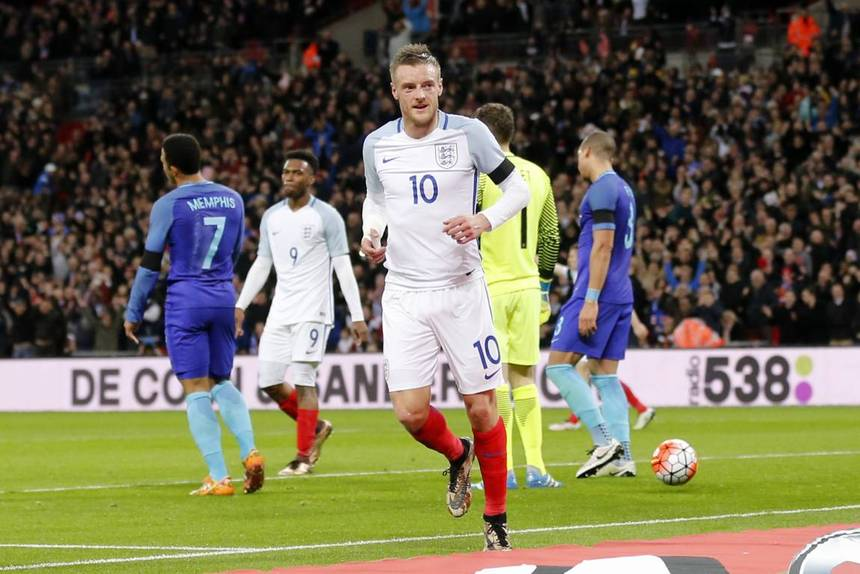 Vardy quiere golear a Eslovaquia.