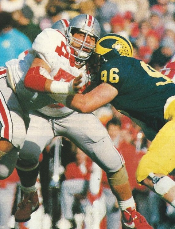 Timothy jugando contra Michigan en 1989